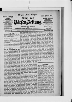 Berliner Börsen-Zeitung vom 03.02.1914