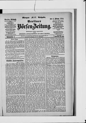 Berliner Börsen-Zeitung on Feb 4, 1914