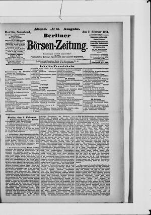 Berliner Börsen-Zeitung vom 07.02.1914