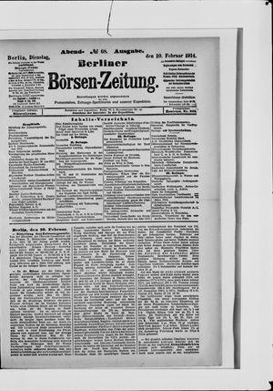 Berliner Börsen-Zeitung vom 10.02.1914
