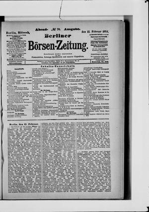 Berliner Börsen-Zeitung vom 11.02.1914