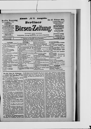 Berliner Börsen-Zeitung vom 12.02.1914