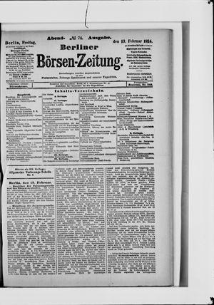 Berliner Börsen-Zeitung vom 13.02.1914