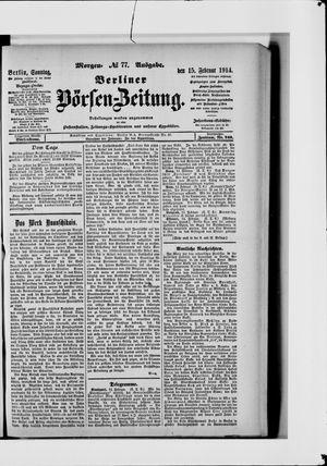 Berliner Börsen-Zeitung vom 15.02.1914