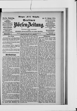 Berliner Börsen-Zeitung vom 19.02.1914