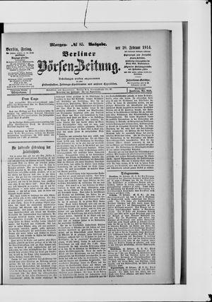 Berliner Börsen-Zeitung vom 20.02.1914
