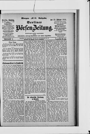 Berliner Börsen-Zeitung vom 22.02.1914