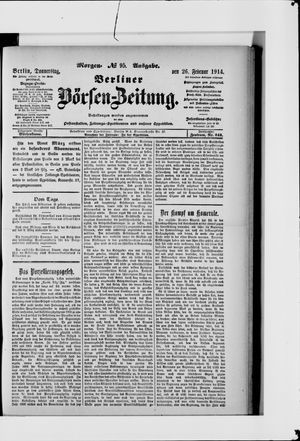 Berliner Börsen-Zeitung vom 26.02.1914