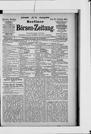 Berliner Börsen-Zeitung vom 27.02.1914