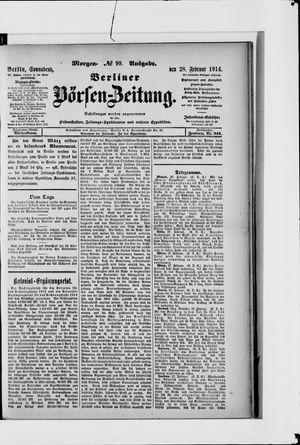 Berliner Börsen-Zeitung vom 28.02.1914