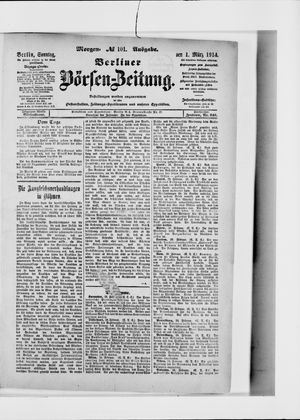 Berliner Börsen-Zeitung vom 01.03.1914