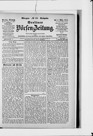 Berliner Börsen-Zeitung vom 04.03.1914