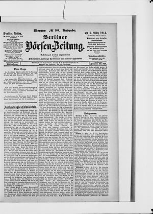 Berliner Börsen-Zeitung vom 06.03.1914