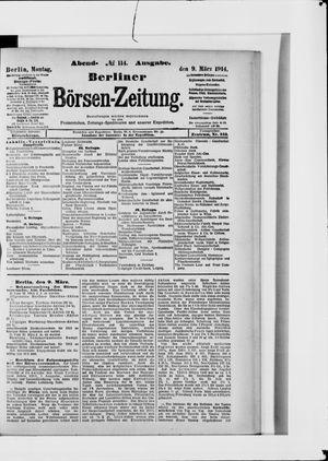 Berliner Börsen-Zeitung vom 09.03.1914