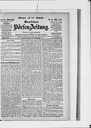 Berliner Börsen-Zeitung vom 12.03.1914