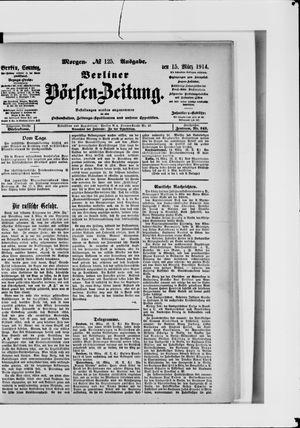 Berliner Börsen-Zeitung vom 15.03.1914