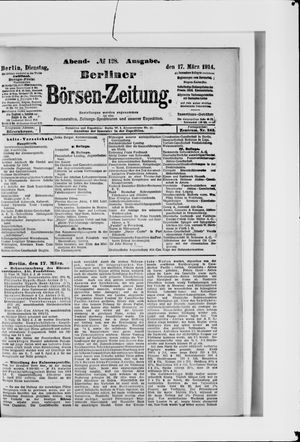 Berliner Börsen-Zeitung vom 17.03.1914