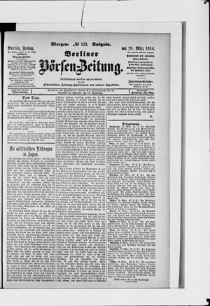 Berliner Börsen-Zeitung vom 20.03.1914