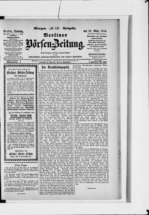Berliner Börsen-Zeitung vom 22.03.1914