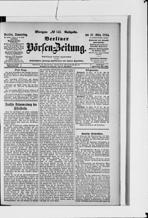 Berliner Börsen-Zeitung vom 26.03.1914