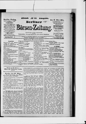 Berliner Börsen-Zeitung vom 27.03.1914