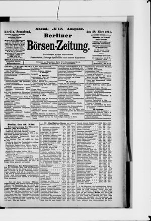 Berliner Börsen-Zeitung vom 28.03.1914