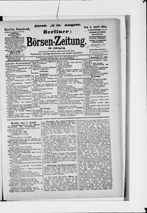 Berliner Börsen-Zeitung vom 04.04.1914