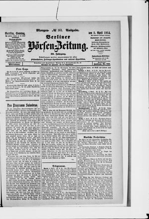Berliner Börsen-Zeitung vom 05.04.1914
