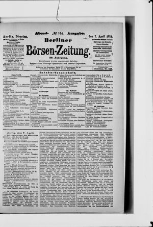 Berliner Börsen-Zeitung vom 07.04.1914