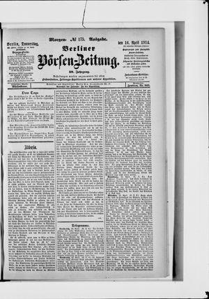 Berliner Börsen-Zeitung vom 16.04.1914