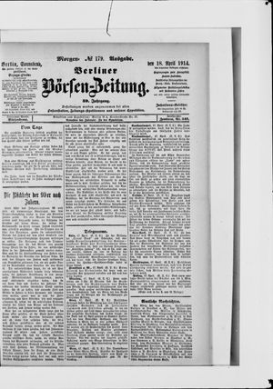 Berliner Börsen-Zeitung vom 18.04.1914