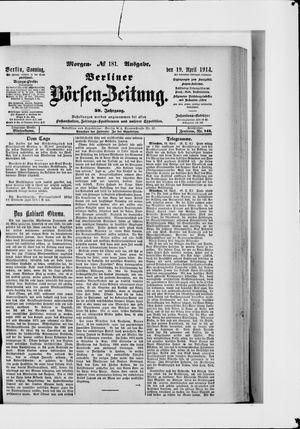 Berliner Börsen-Zeitung vom 19.04.1914
