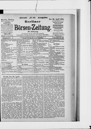 Berliner Börsen-Zeitung vom 20.04.1914