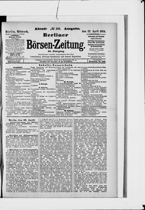 Berliner Börsen-Zeitung vom 22.04.1914