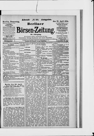 Berliner Börsen-Zeitung vom 23.04.1914