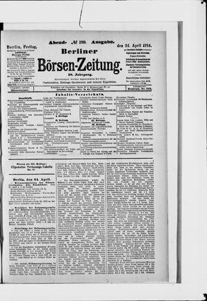 Berliner Börsen-Zeitung vom 24.04.1914