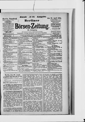 Berliner Börsen-Zeitung vom 25.04.1914