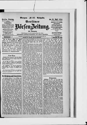 Berliner Börsen-Zeitung vom 28.04.1914