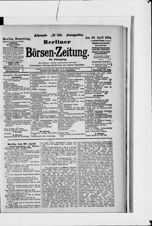Berliner Börsen-Zeitung on Apr 30, 1914