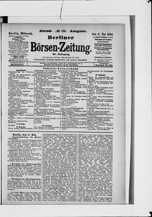 Berliner Börsen-Zeitung vom 06.05.1914