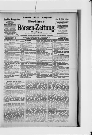 Berliner Börsen-Zeitung vom 07.05.1914