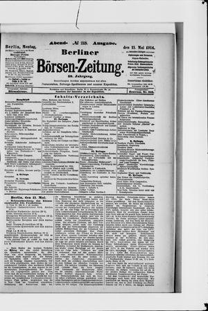 Berliner Börsen-Zeitung vom 11.05.1914