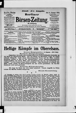 Berliner Börsen-Zeitung vom 04.01.1915