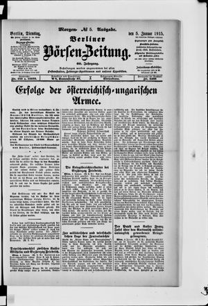 Berliner Börsen-Zeitung vom 05.01.1915