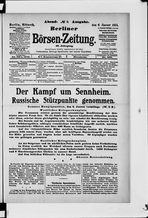 Berliner Börsen-Zeitung vom 06.01.1915