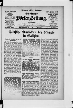 Berliner Börsen-Zeitung vom 07.01.1915