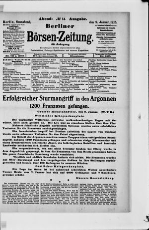 Berliner Börsen-Zeitung on Jan 9, 1915