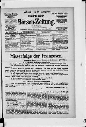 Berliner Börsen-Zeitung vom 11.01.1915