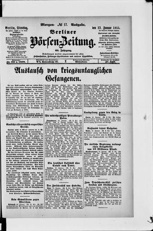 Berliner Börsen-Zeitung vom 12.01.1915
