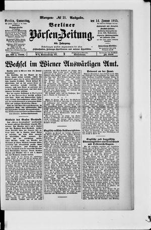 Berliner Börsen-Zeitung vom 14.01.1915